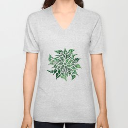 Floral Abstract 23 Unisex V-Neck