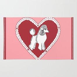 Poodle Love Rug