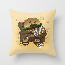 The Dad Burger Throw Pillow