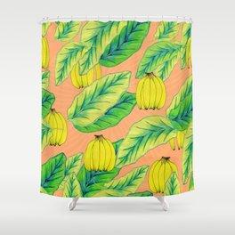 Banana Jungle - Peach Shower Curtain