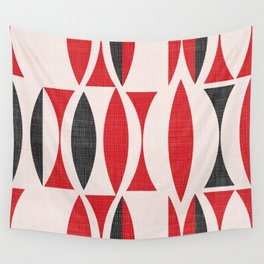 Seventies in Cherry Red Wall Tapestry