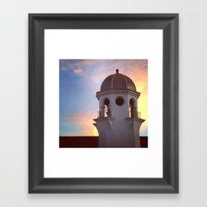 Tower at Sunset Framed Art Print