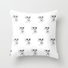 Skull with Tentacles Throw Pillow