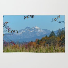 The Cascades from an Autumn Field Rug