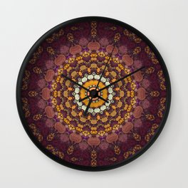 Enchanted Autumn -- Mandala Form Wall Clock