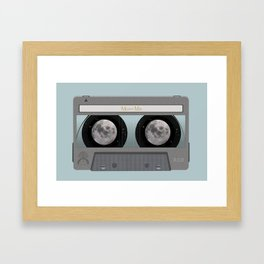 The Moon Mix Tape Framed Art Print