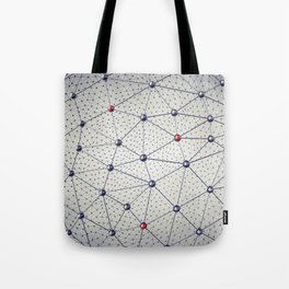 Cryptocurrency network Tote Bag