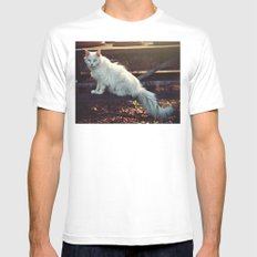 Ghost Cat MEDIUM White Mens Fitted Tee