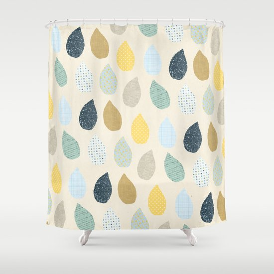 rain drops pattern Shower Curtain