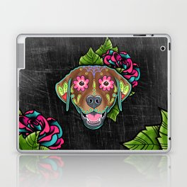 Labrador Retriever - Chocolate Lab - Day of the Dead Sugar Skull Dog Laptop & iPad Skin