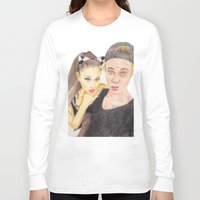 ariana grande Long Sleeve T-shirts featuring Ariana and Justin by Share_Shop