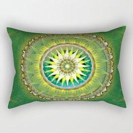 Mandala Green Rectangular Pillow
