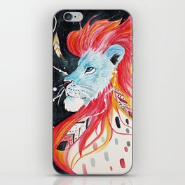 Lion on fire iPhone Skin