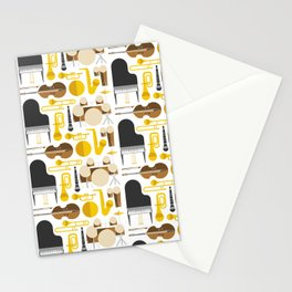 Jazz instruments Stationery Cards
