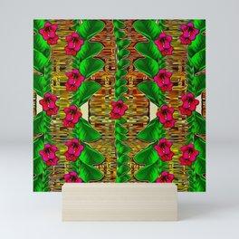 tree flower paradise of inner peace and calm pop-art Mini Art Print