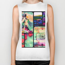 Textured Collage Biker Tank