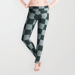 Checkerboard Pattern Inspired By Night Watch PPG1145-7 & Blue Willow Green PPG1145-4 Leggings