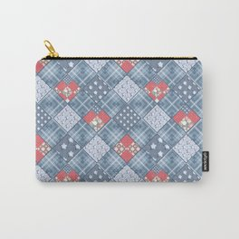 Pale blue patchwork Carry-All Pouch