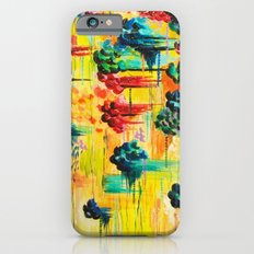 HERE COMES THE RAIN - Abstract Acrylic Painting Rain Storm Clouds Colorful Rainbow Modern Impasto iPhone 6s Slim Case