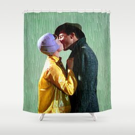Singin' in the Rain - Green Shower Curtain