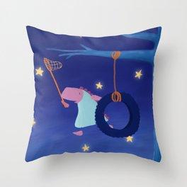 Catch a falling star... Throw Pillow