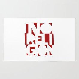 No Religion V-Red Rug