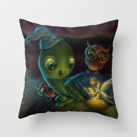 fairy tale Throw Pillows featuring Fairy Tale by Alicia Templin