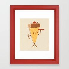 Pizza Delivery Framed Art Print