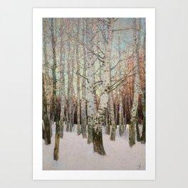 Birches. Winter Art Print