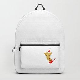 Xmas Giraffe Backpack