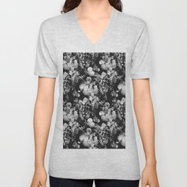 Through The Flowers // Floral Collage Unisex V-Neck