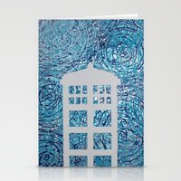 tardis Stationery Cards featuring Tardis by Sahara Novotny