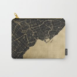 Toronto Gold and Black Street Map Carry-All Pouch