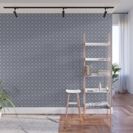 Earthy Green on Mellow Purple Parable to 2020 Color of the Year Back to Nature Polka Dot Grid Wall Mural