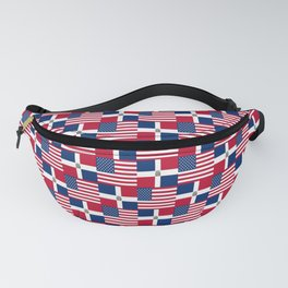 Mix of flag : usa and dominican republic Fanny Pack