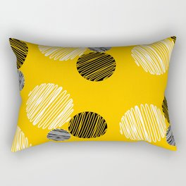 Dots Pop Art Comics Rectangular Pillow