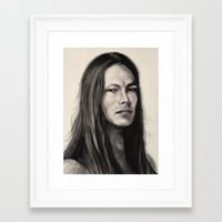 native american Framed Art Prints featuring NATIVE AMERICAN by ART FEEDS HUNGER