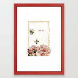 He Picked Flowers Framed Art Print