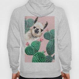 Llama and Cactus Pink Hoody