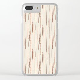 Cavern Clay SW 7701 Grunge Vertical Stripes on Creamy Off White SW7012 Clear iPhone Case