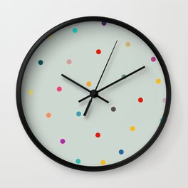 Colorful tiny polka dot pattern  Wall Clock