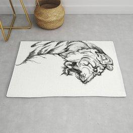 One Line Tiger Rug