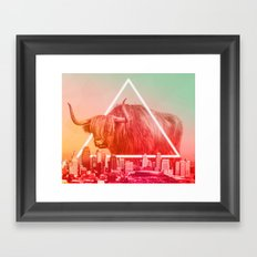 Moving to the city Framed Art Print