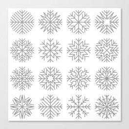 minimalist snow flakes Canvas Print