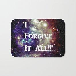 I Forgive It All! Blue Brown Galaxy Bath Mat