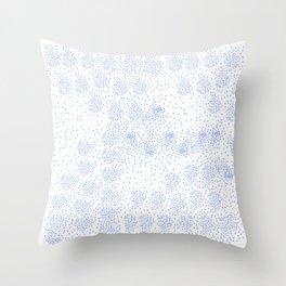 Blue circle on white Throw Pillow
