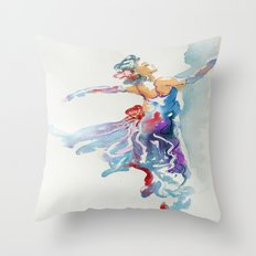 Grace in Purple and Blue Throw Pillow