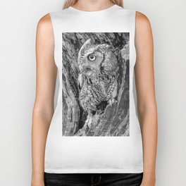 Echo the Screech Owl by Teresa Thompson Biker Tank