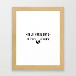 Belo Horizonte Framed Art Print