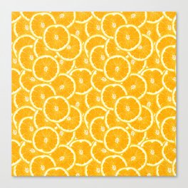 Oranges are the new black Canvas Print